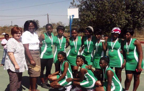 Mdluli High School basketball team