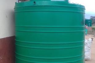 Rain water harvesting tanks & guttering in position