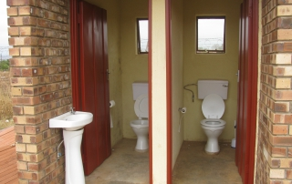 Refurbished safe and hygenic toilet facilities at Mathebela High School