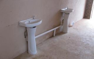 Wash up basins at Mathebela High School