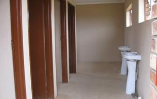 Clean & hygenic toilet facilities at Mathebela High School