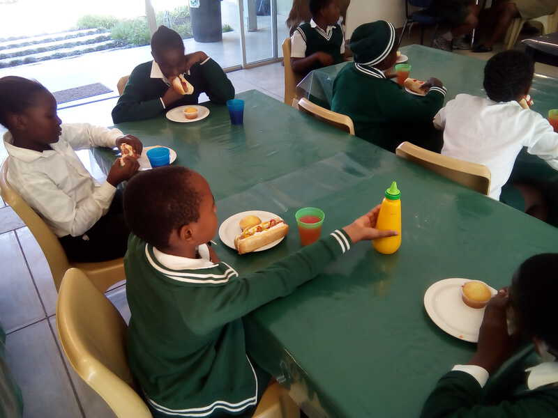 It's lunch time at the Timbavati Foundation