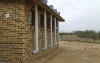 Another view of a newly completed toilet block
