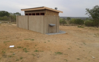 A view of one of the recently completed toilet blocks at Dlumana High School